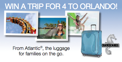 Win a trip for 4 to Orlando! #AtlanticLuggage