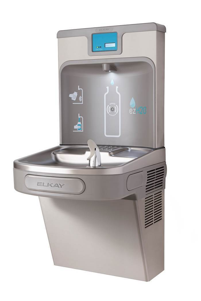 sure i have seen plenty of water fountains in various public places but these water bottle filling stations were totally different - Elkay Drinking Fountain