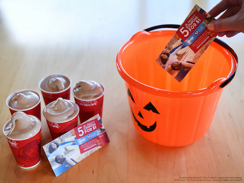 Coupon Books from Wendy's make great Halloween treats! Their sale helps support the Dave Thomas Foundation for Adoption!