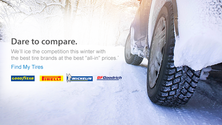 Winter Driving is Dangerous: Have You Checked Your Tire Tread? ad #DaretoCompare